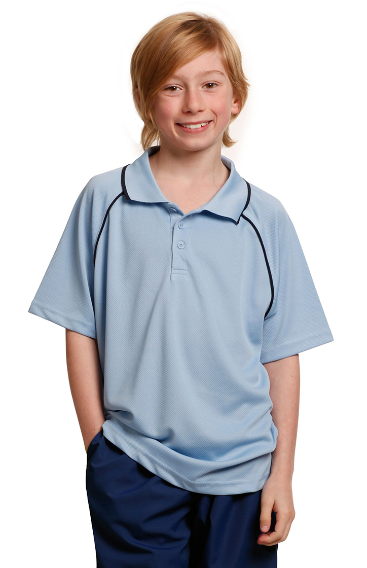 PS24 Kids' CoolDry® Raglan Short Sleeve Contrast Polo