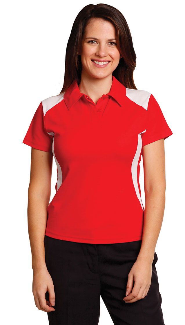 PS32A Ladies' TrueDry® Contrast Short Sleeve Polo