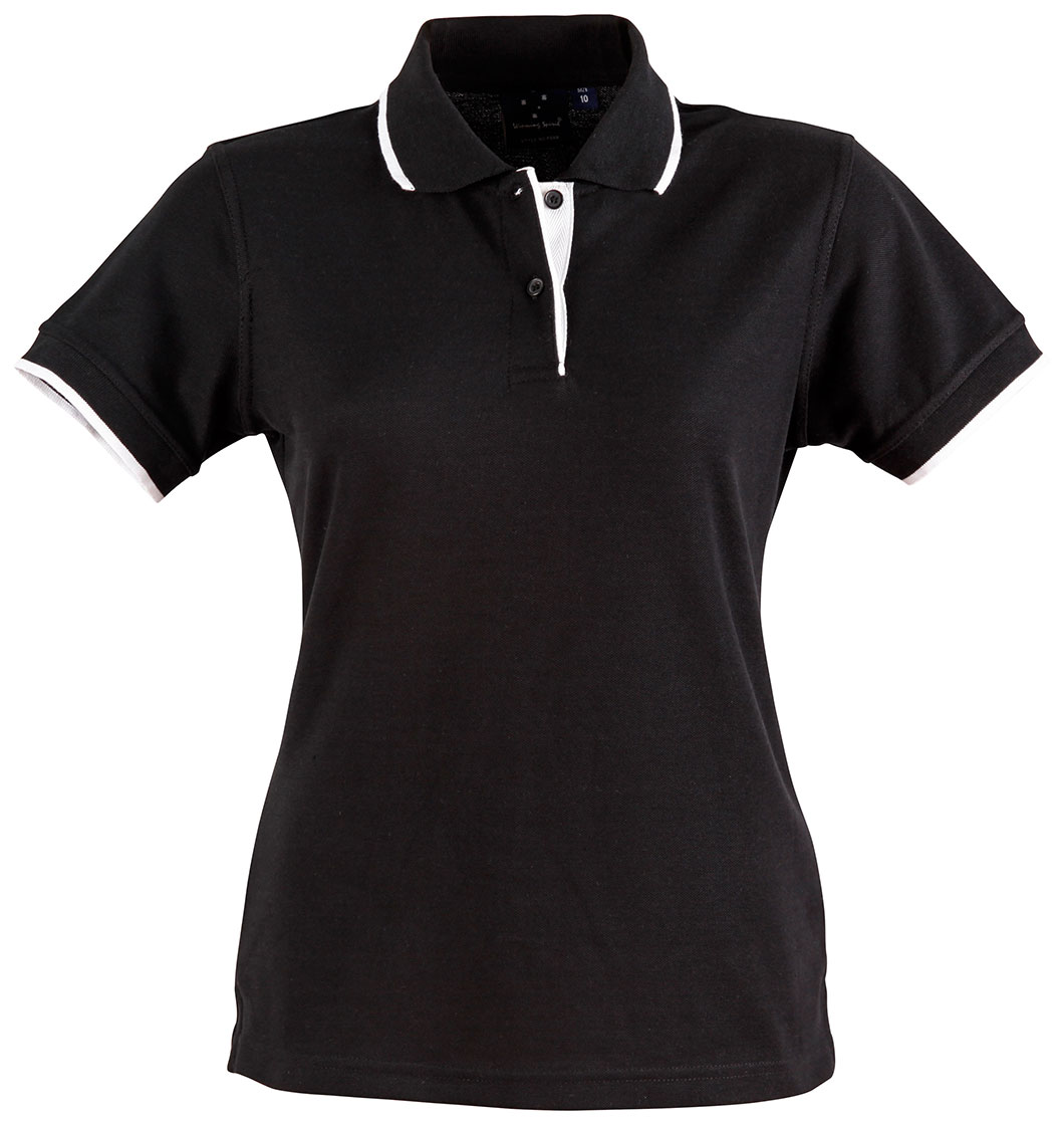 PS48A Ladies' Poly/Cotton Contrast Pique Short Sleeve Polo