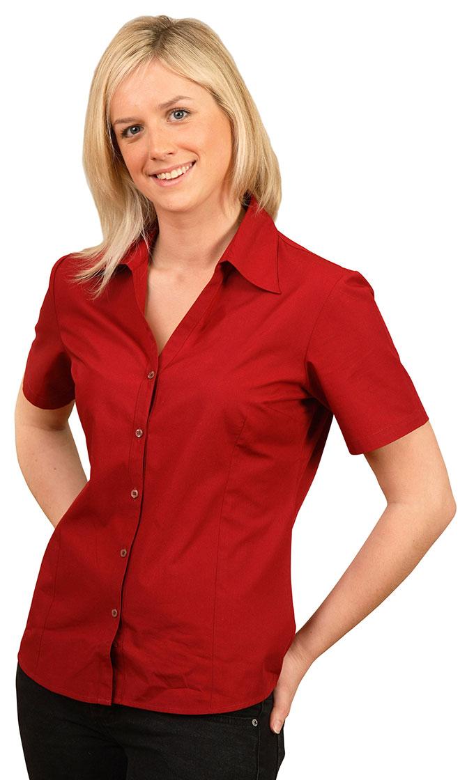 BS07S Women's Teflon Executive Short Sleeve Shirt