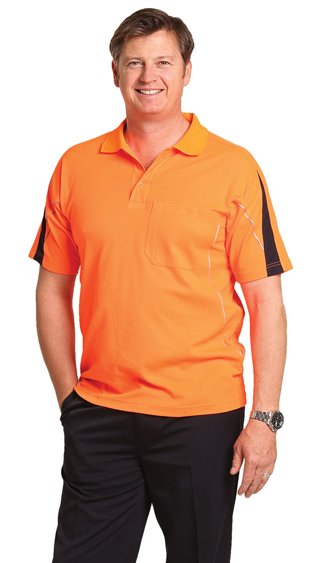 SW25A Men's TrueDry® Hi-Vis Polo with Reflective Piping