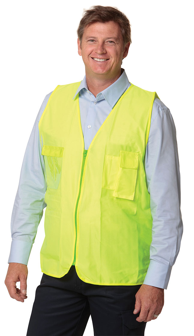 SW41 High Visibility Safety Vest with chest pockets