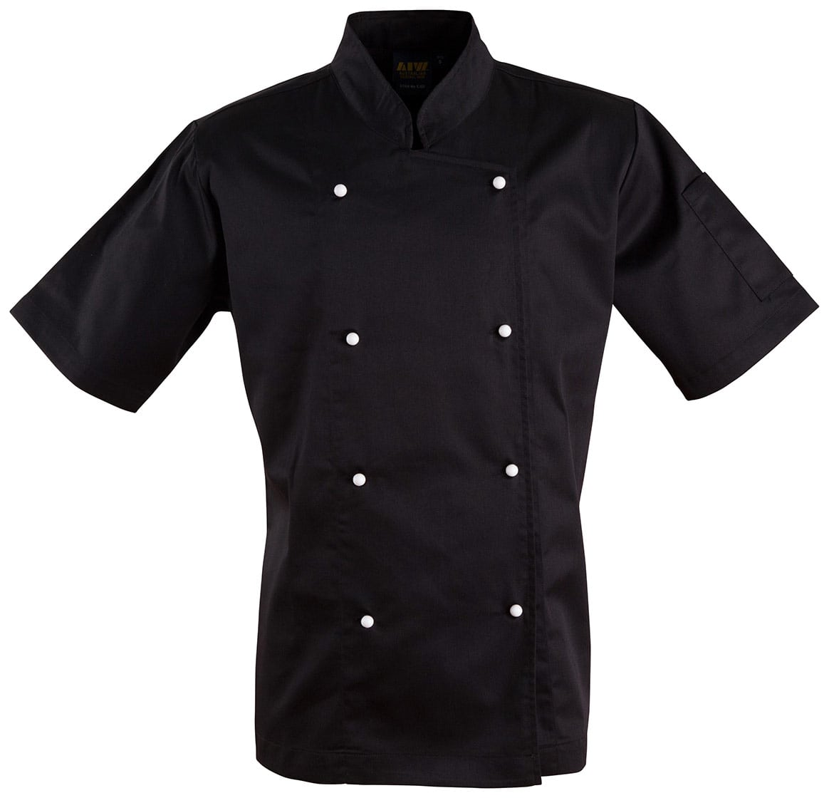 CJ02 Black Chef's Short Sleeve Jacket