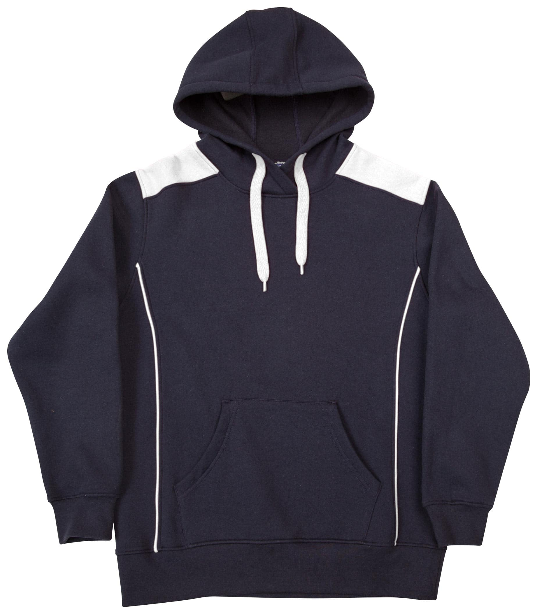 FL19 Adults' Close Front Contrast Fleece Hoodie